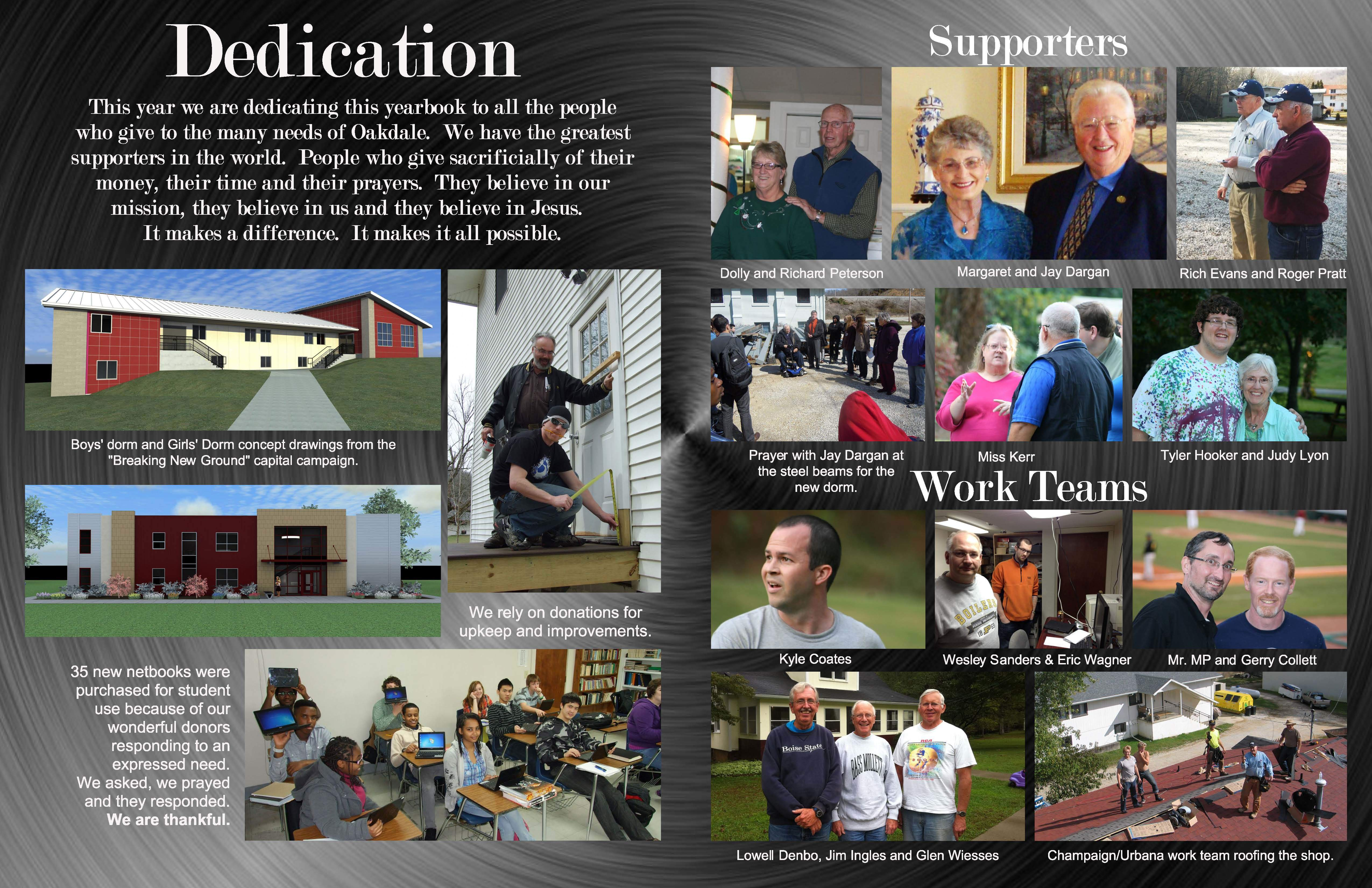 Here is the 2-page dedication spread. Click on the image below to view ...